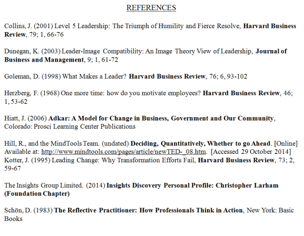 Image displaying all sources used in the presentation ['references'].