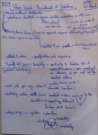 Image of the first page of the handwritten notes made by Chris Larham while attending a session entitled 'Values-based Recruitment and Selection' on 14.2.17.
